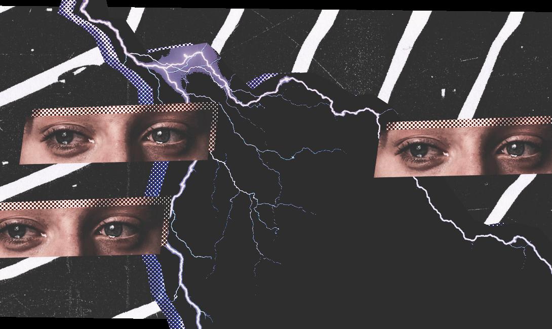 Испуганные глаза выдают скрытую тревожность