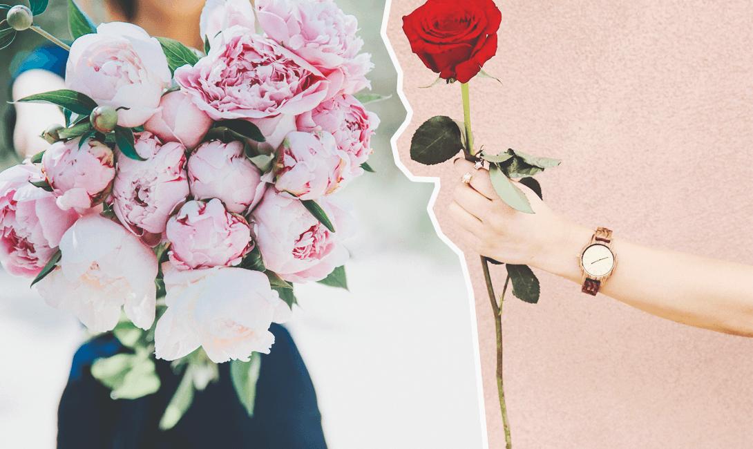 Как отправить цветы девушке на работу малышева ню