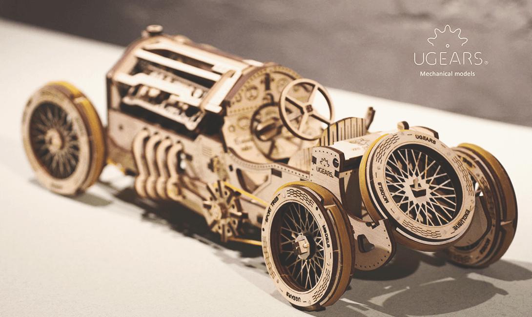 Деревянный конструктор Ugears cпорткар U-9 Гран-при