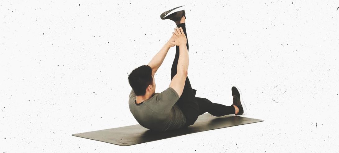 Подтягивание корпуса к вытянутой ноге